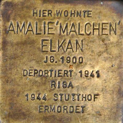 Stolperstein Malchen Elkan