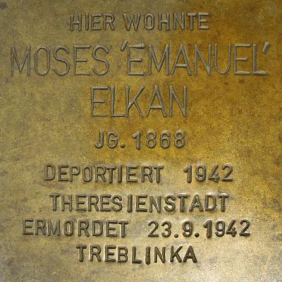 Stolperstein Moses Elkan