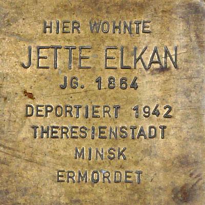 Stolperstein Jette Elkan